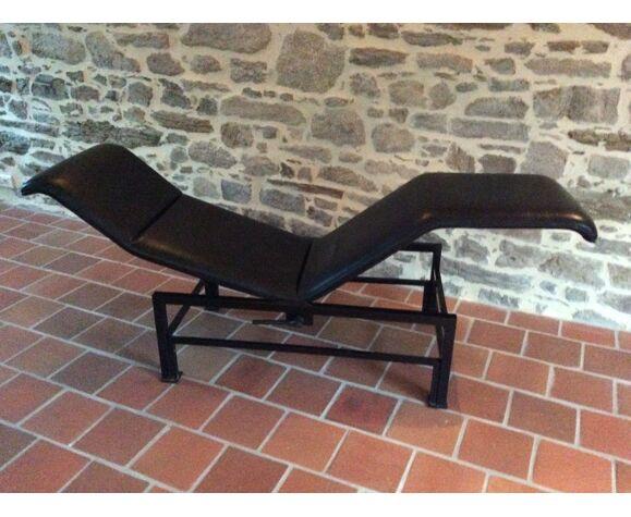 Chaise longue Relax Artelano en cuir noir