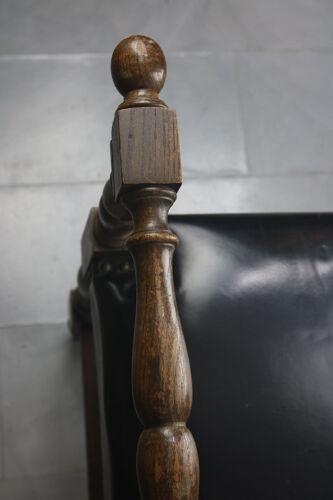 Banc français en cuir