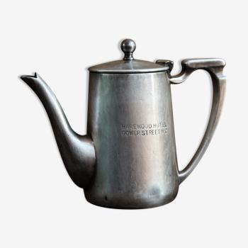 English Coffee Maker - Silver Metal, Harewood Hotel