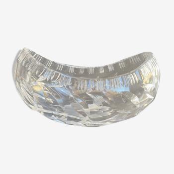 1629 Jardinière de table - Moderne milieu de siècle - Cristal taillé main