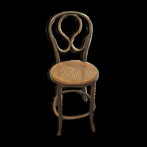 Chaise haute Thonet en bois courbé