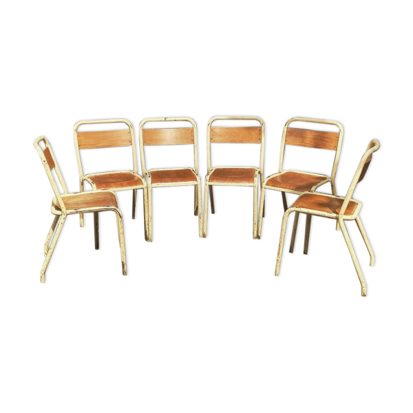 Selency Ensemble de 6 chaises Tolix