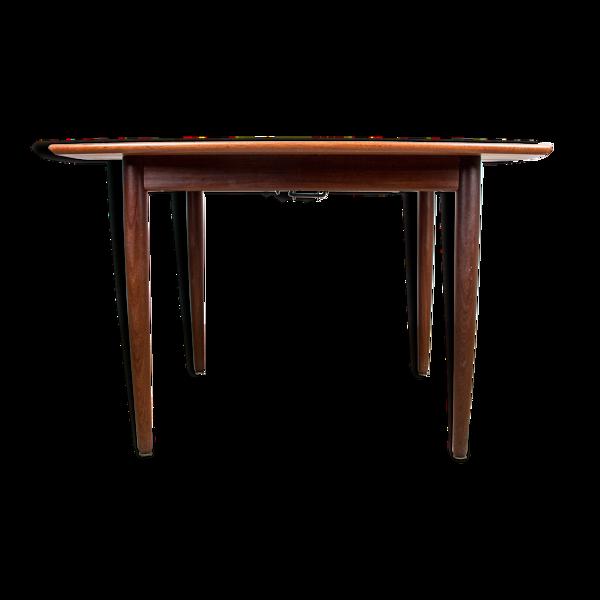 Selency Table de repas carrée extensible danoise en teck par Henry Walter Klein 1960