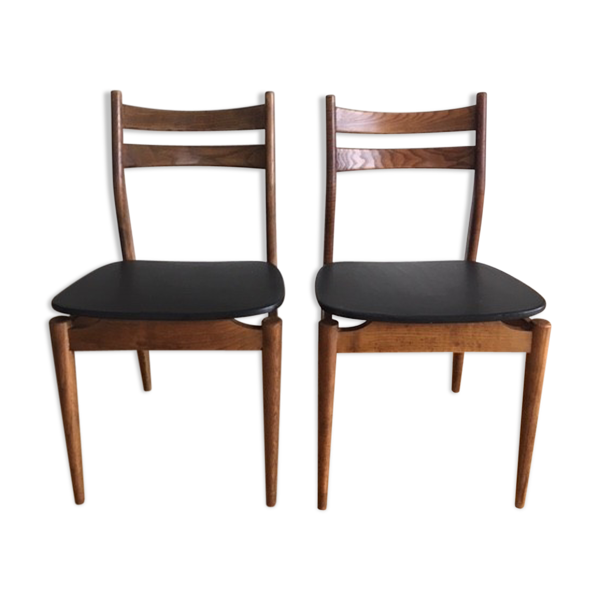 Paire chaises scandinaves