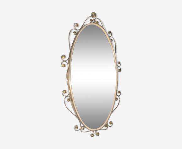 Ancien miroir en laiton 70 x 41 cm