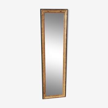Miroir de pied rectangulaire à filet de perles