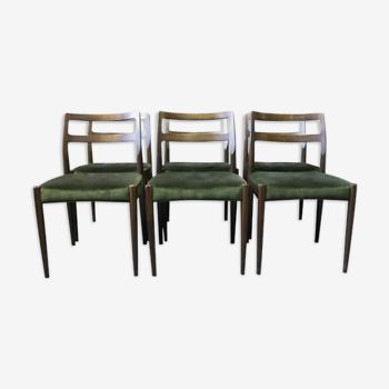 Ensemble de six chaises à manger, modèle Anne, conçu par Johannes Andersen