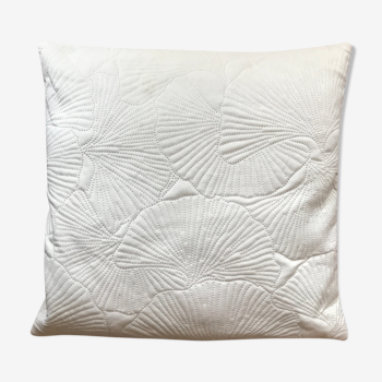 Coussin blanc Ginkgo