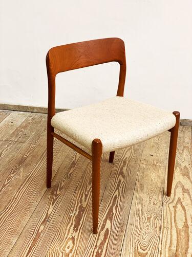 Chaise par Niels O. Møller pour J.L. Moller, Modèle 75,Danemark, années 1950