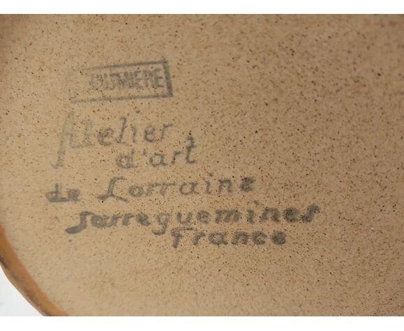 Théière brune atelier d'art de Lorraine Sarreguemines France – 20 cm