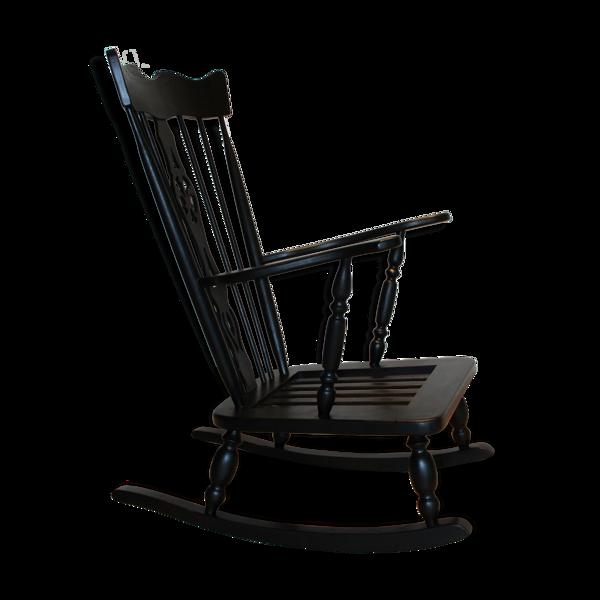 Rocking-chair anglais, style Windsor, XIXème.