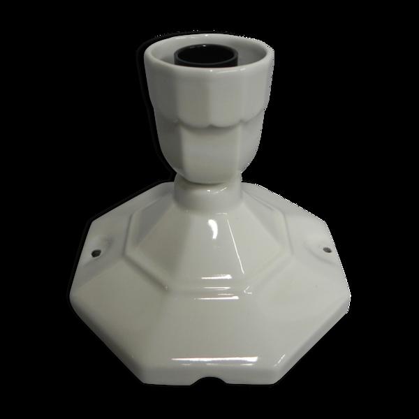 Porte-lampe en porcelaine Art Déco