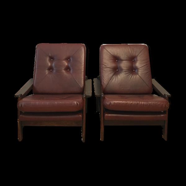 Paire de fauteuils vintage, années 1960