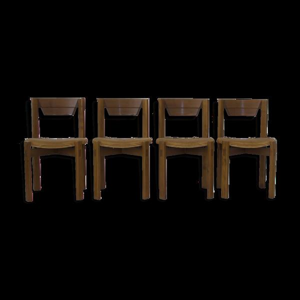 Ensemble de 4 chaises dans l'esprit Silvio Coppola