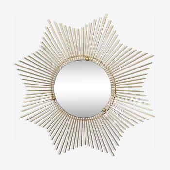 Miroir soleil années 60 66cm