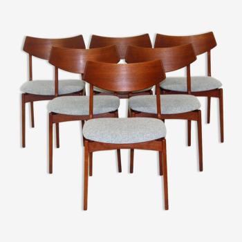 Set de 6 chaises en teck, Suède, 1960