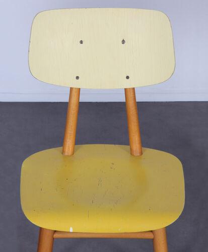 Paire de chaises vintage en bois produites par Ton, 1960