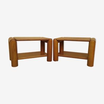 Bouts de canapé en ormemassif Maison Regain années 70