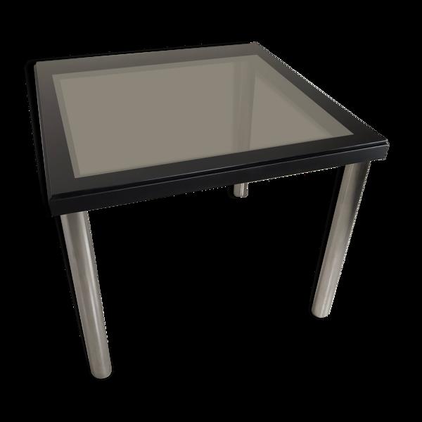 Table carré chromé vintage