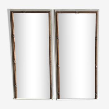 Paire de miroirs style Louis XVI 59x126cm