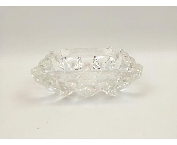 Cendrier en verre épais transparent