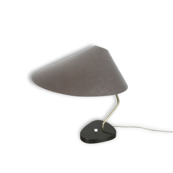 Original modernist 1960s  Table light lampe de table with granite base   made in Germany