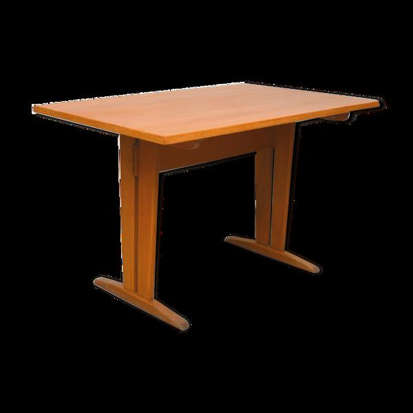 Table en bois blond, 1960