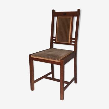 """Chaise en chêne Art Déco """"Nieuwe Kunst"""" pander 1910"""