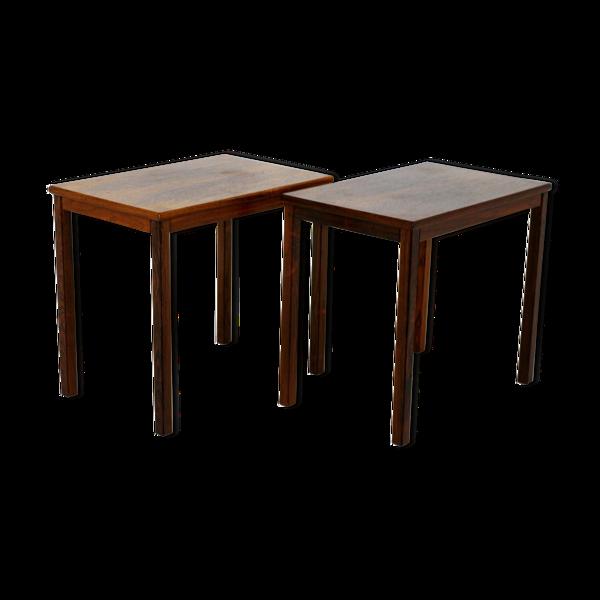 Selency Tables d'appoints en palissandre, Suède, 1960