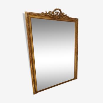 Miroir époque restauration à la feuille d'or 120x170cm