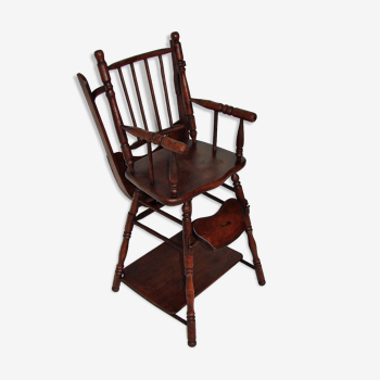 Chaise pour enfants en bois, années 1930