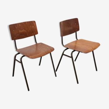 Chaises de salle à manger industrielle par Marko, Pays-Bas années 1960