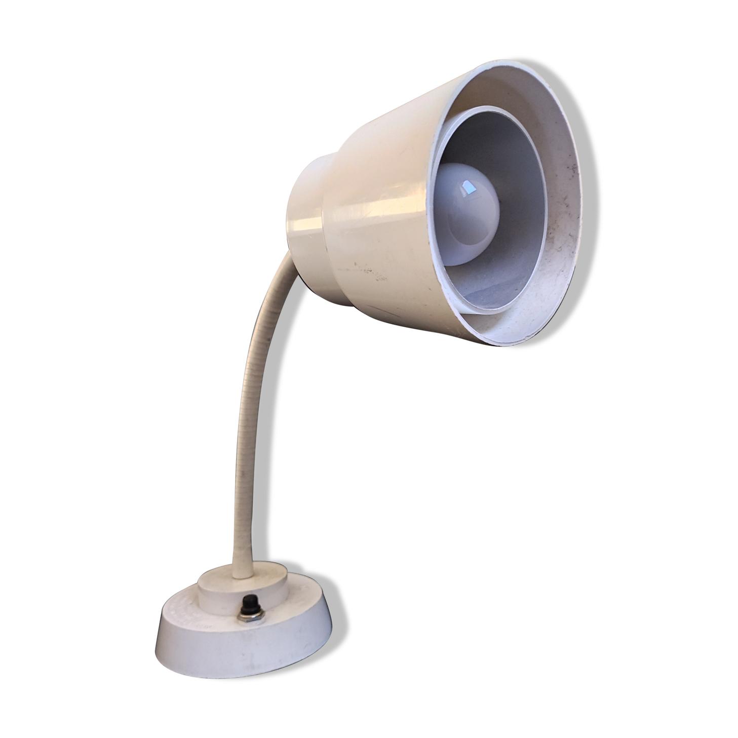 Lampe de bureau atelier laboratoire articulée vintage Jeulin France