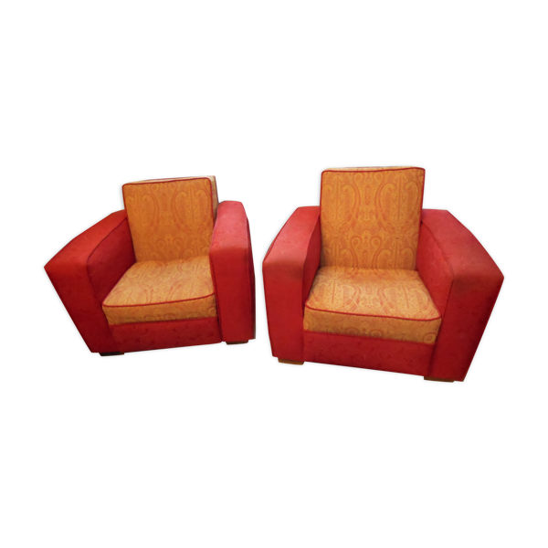 Paire de fauteuils club des années 20