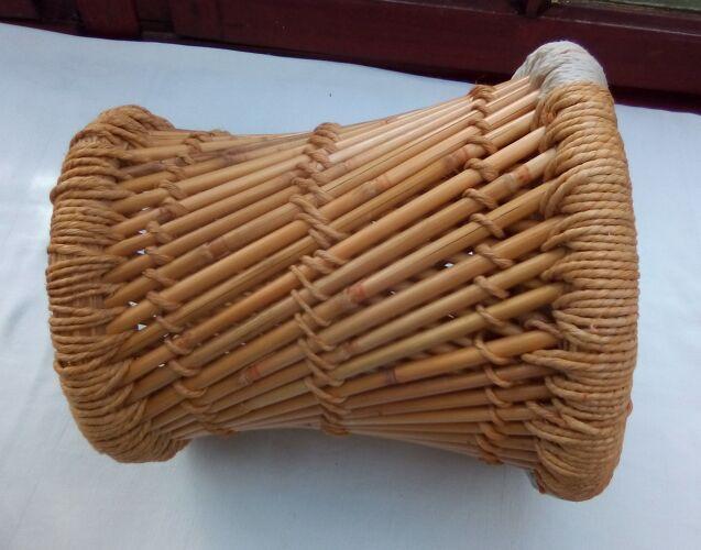 Pouf en bambou