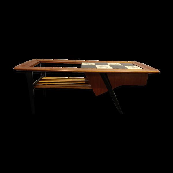 Selency Table basse bar caché par Alfred Hendrickx pour Belfom, années 1950