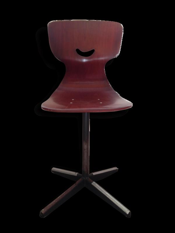 Pagholz - suite de 6 chaises en pagwood