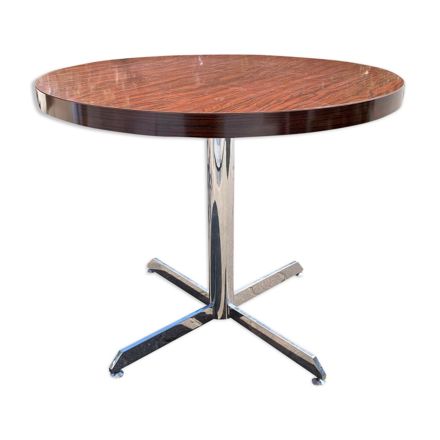 Table Roche Bobois vers 1970 stratifié palissandre