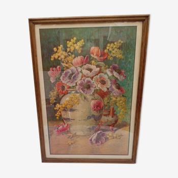 Tableau bouquet de fleurs