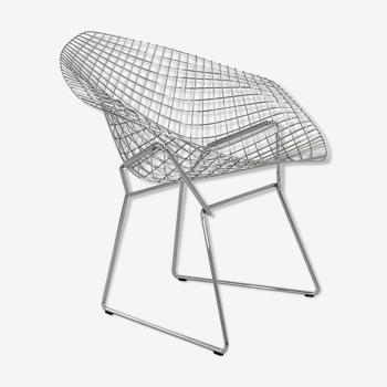 Diamond armchair chromed by Harry Bertoia for Knoll, 1990