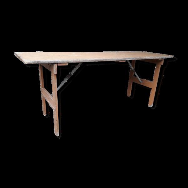 Table de guinguette pliante