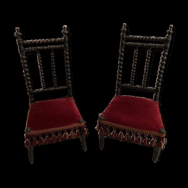 Paire de chaises enfants Napoléon lll