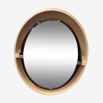 Miroir ovale rétroéclairé Allibert, années 70 - 70x56cm