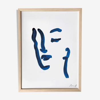 """Illustration """"Blue Portrait 8"""""""