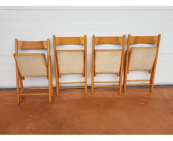 4 chaises pliantes années 60 vintage