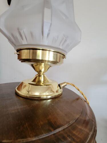 Lampe à poser avec globe Art déco