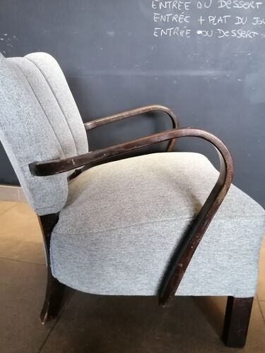 "Pair chair Halabala grey, ""cocktail"", 1950"