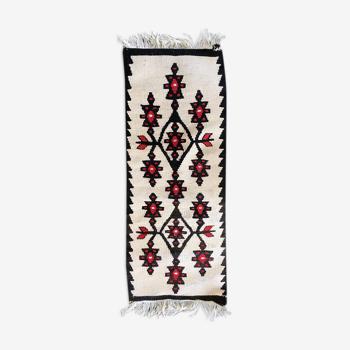 Tapis roumain laine tissé 72,5x29,5cm