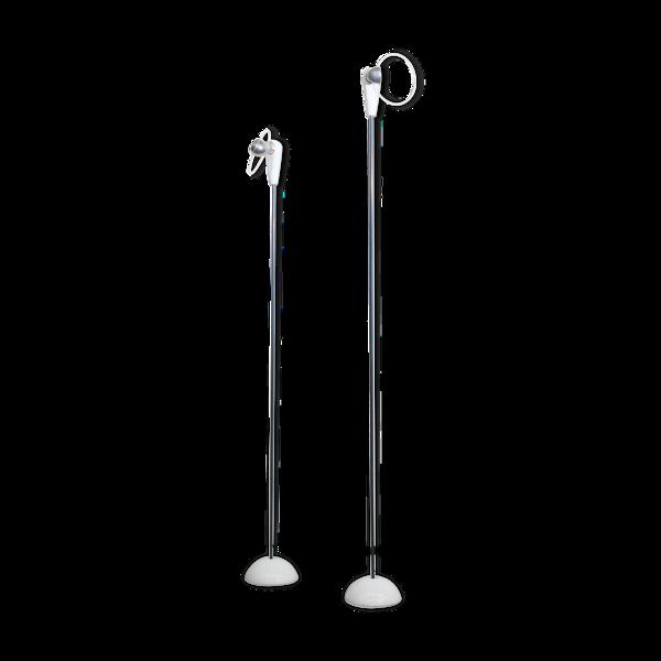 Paire de lampadaires Bip-Bip vintage par Achille Castiglioni pour Flos