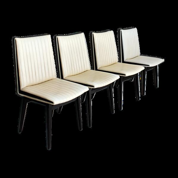 Chaises de salle à manger autrichiennes, conçues par Oskar Riedel Wien, 1955